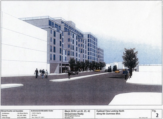 Proposed Apartments on McGuinness Blvd Greenpoint, Brooklyn