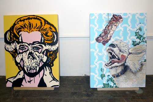 Paintings by Thomas Buildmore and Morgan Anderson