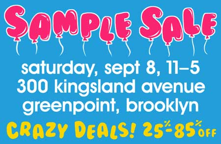 Fred Flare Sample Sale