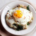 egg broccoli rabe bread chili