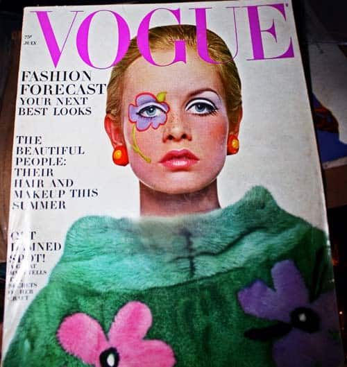Twiggy on cover of Vogue