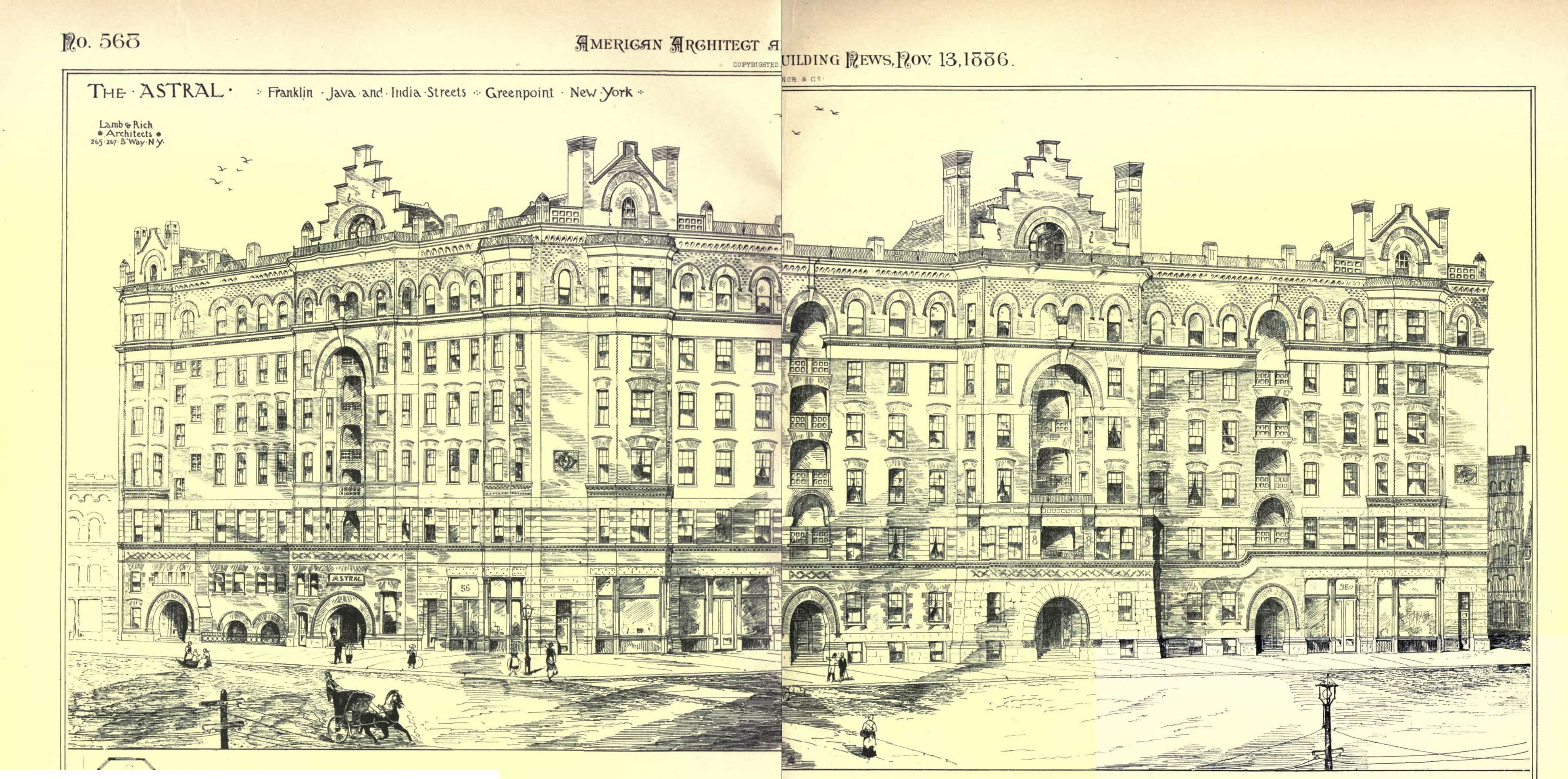 Rendering of the Astral; Courtesy of the Brooklyn Department of Buildings