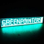 greenpointers neon sign