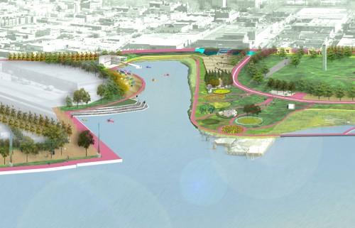 Rendering of Bushwick Inlet Park