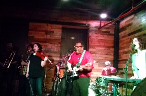 The NRIs at the Pine Box Rock Shop.