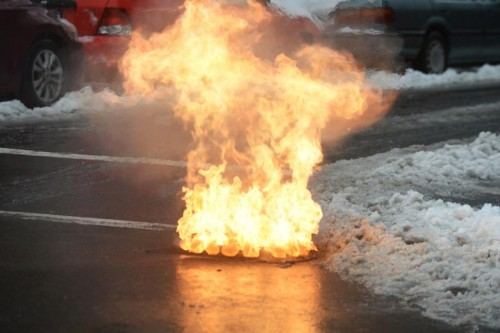 Manhole explosion in Park Slope on FEb 2nd, 2015. Photo credit:Todd Maisel/Daily News