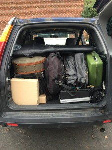 Courtesy of the NRIs. Packing light without amps or drums for the mini-tour and depending on venues and local bands to share.