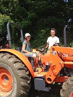 Jen and Jon at the Farm