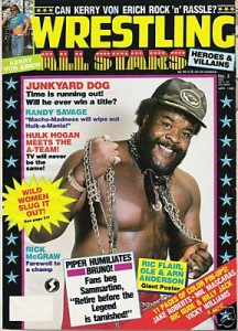 This is not a junkyard in the sun. This is former WWF wrestler Junkyard Dog.