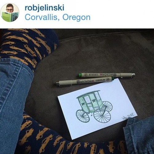 Courtesy of the Ugly Art Room Facebook page. Corvallis artist Rob Jelinksi gave us a sneak peak via Instamagrams...