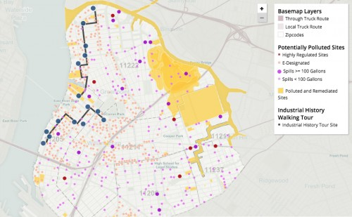 NAG's ToxiCity Map outlines N. Brooklyn contamination.