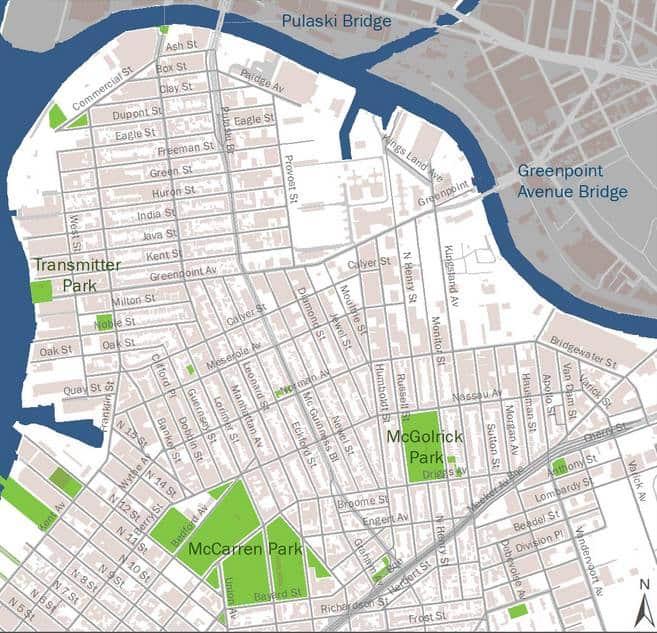 map of greenpoint brooklyn Tomorrow 10 20 Toxicity Map Reveals Greenpoint Williamsburg S map of greenpoint brooklyn