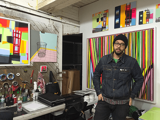 Mike Hambouz in his workspace!