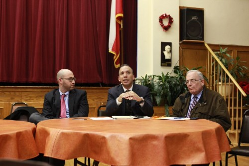 Louis Molina, Senior Advisor at the DHS, fields some questions. Photo: Julia Moak
