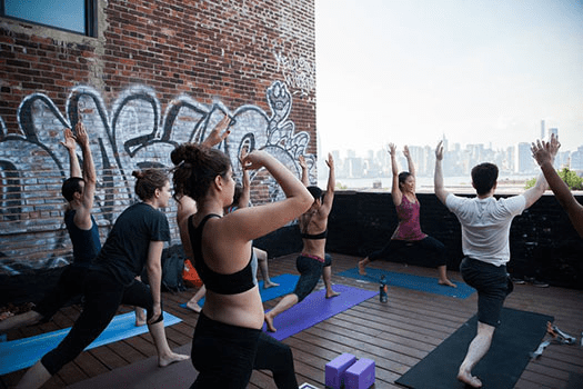 Greenpointers Summer Market 2015 Rooftop Yoga with Hosh Yoga