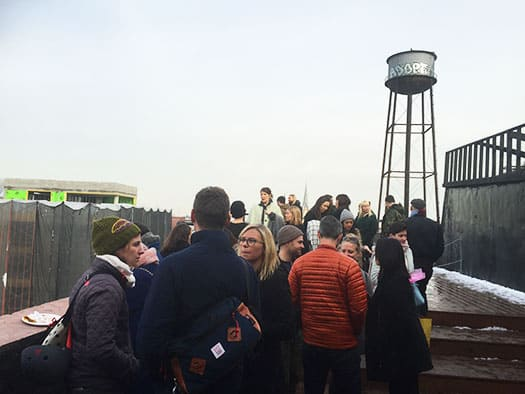 Rooftop View of the Water Tower at Greenpoint Loft