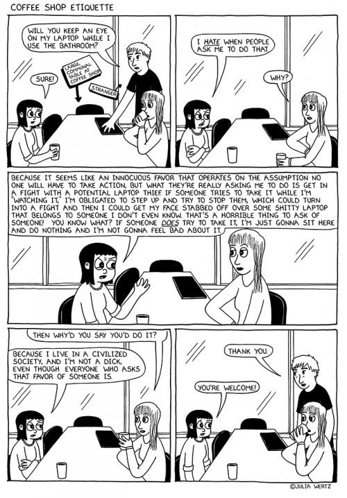 Coffee Shop Etiquette by Julia Wertz