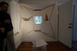 "Previous exhibit, ""Monologue Relief"" by Margarete Hentze at The Hollows."