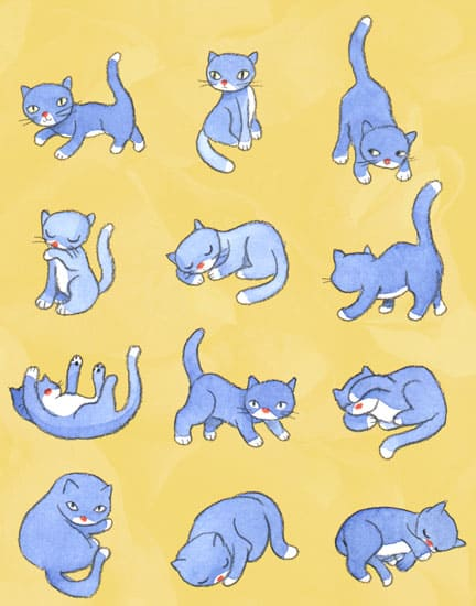 "John & Wendy, ""Blue Kitties"""