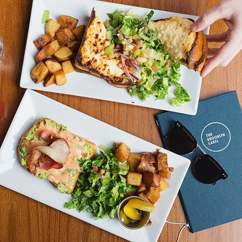 The croque monsieur and avocado toast at The Brooklyn Label.