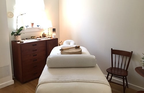 A treatment room at Help Your Self.
