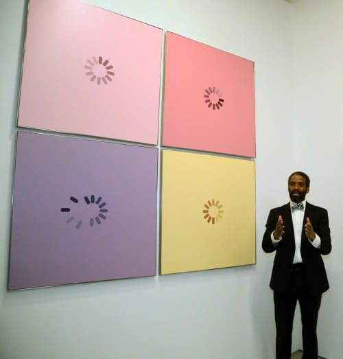 Leon Reed IV with Load Paintings, Tech-Art: Soul For Technology