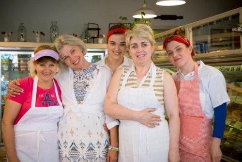 From left to right: Zofia, Marzena Parys (owner), Joanna Pietrzykowska, Agnieszko Dziekoriska, Magdalena Mierzwa
