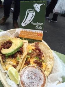 Jalapa Jar's breakfast tacos.