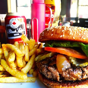 The burger at Jimmy's II (image via jimmysgpoint.com)