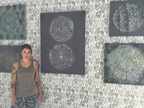 Sarah Merenda with works