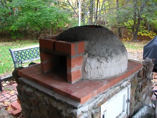 Building the brick pizza oven