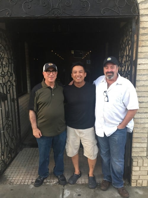 Paulie Gee & Derrick Tung of Paulie Gee's Logan Square with Jonathan Goldsmith of Spacca Napoli in Chicago