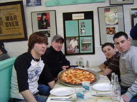 Dining at Totonno's , March, 2005