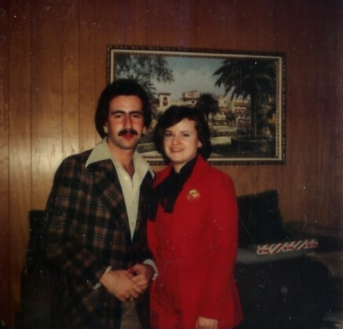 Paulie and Mary Ann, Valentine's Day, 1977