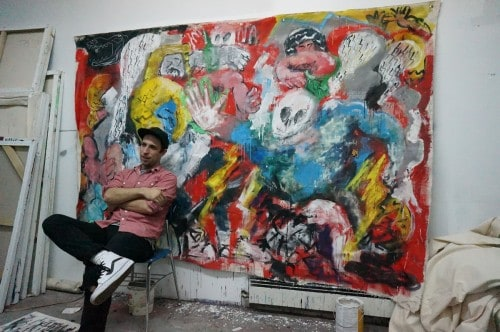 Ted McGrath in his Greenpoint studio