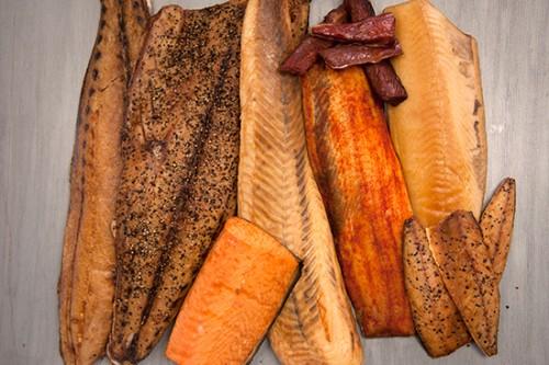 various hot-smoked fish © acme smoked fish