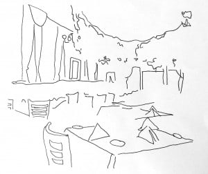 Bamonte's interior. Illustration by Kenzie Kline.