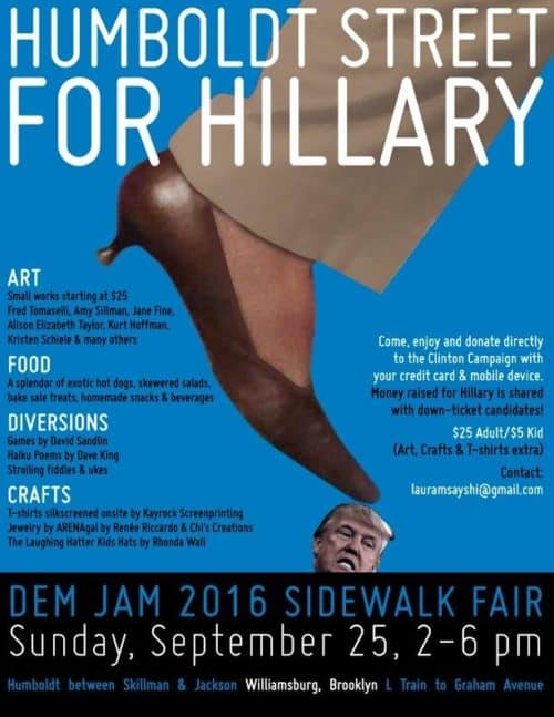 Sidewalk fair for Hillary