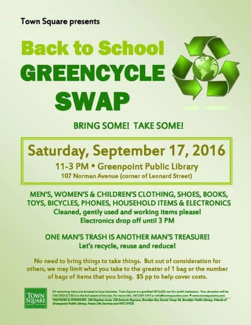 Greencycle Swap - back to school Sept 2016
