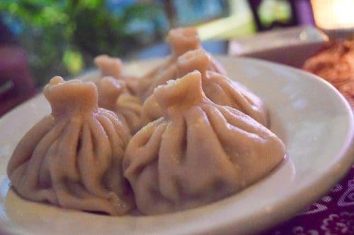 Delicious, traditional Georgian soup dumplings