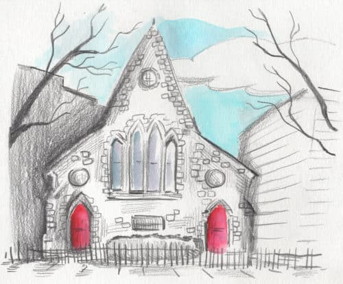 Church of The Ascension on Kent St. In Greenpoint. Illustration: Aubrey Nolan