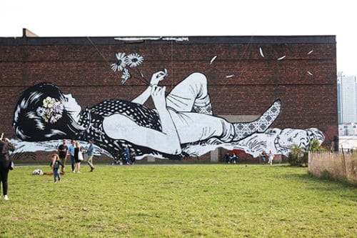 Mural in Transmitter Park by FAILE ©Julia Moak