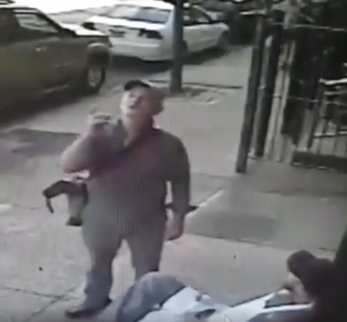 Bill Murray inquiring about lemonade out front of Paulie Gee's.