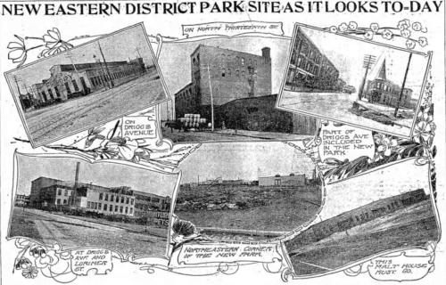 McCarren Park site images, The Brooklyn Daily Eagle - May 5, 1901