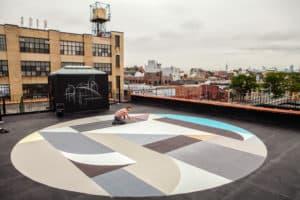 Rubin415 Roof Mural in Brooklyn