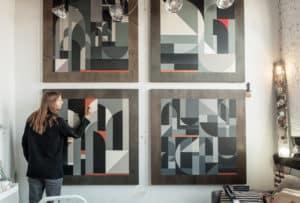 Rubin in his studio in Brooklyn