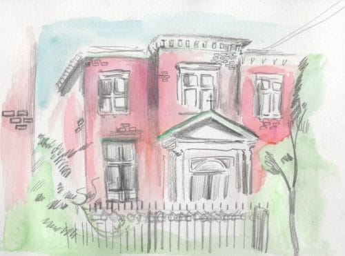 Greenpoint Reformed Church. Illustration by Aubrey Nolan