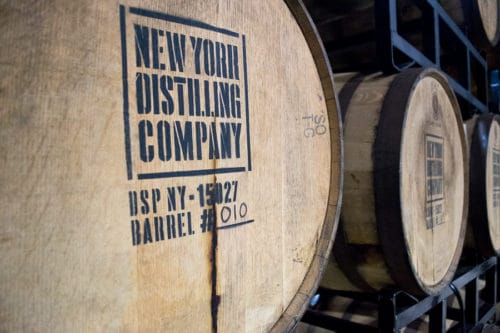 The New York Distilling Company specializes in craft gin and rye whiskey.