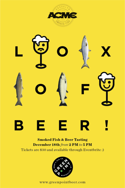 Lox of Beer - Greenpoint Beer & Ale