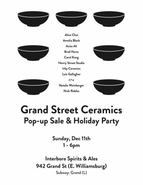 Grand St Ceramics Sale / Interboro